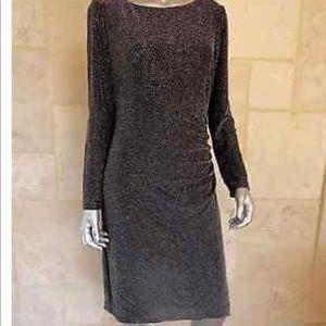 Lauren Ralph  Lauren Black and Silver Dress.